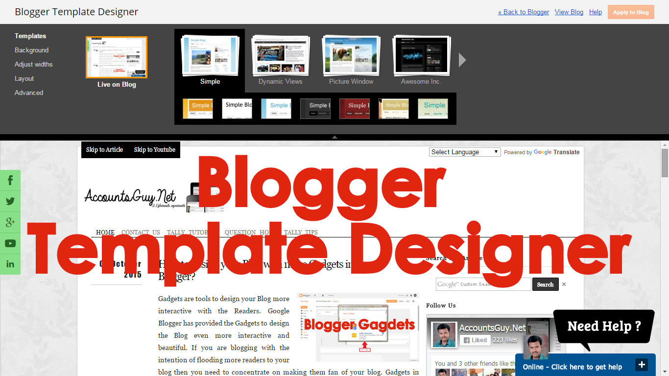 How To Stylish Your Blog With Blogger Template Designer