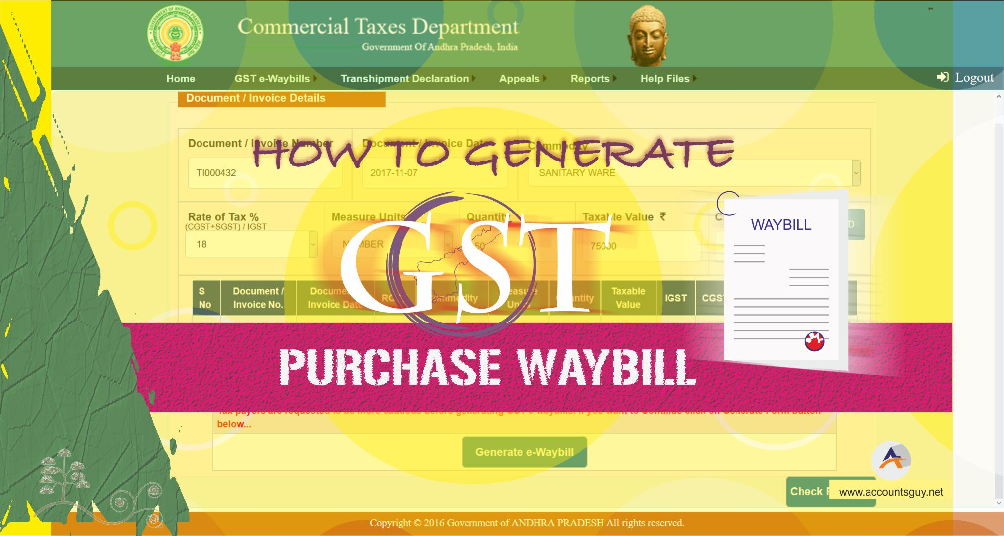 GST Purchase Waybill