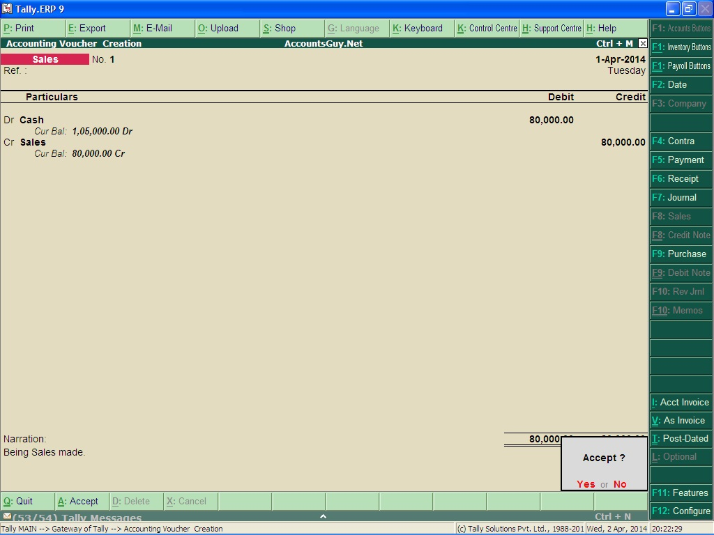 how to create excise sales voucher in tally erp 9